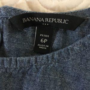 Banana Republic Tops - Banana Republic Chambray Peplum Top - Size 6P